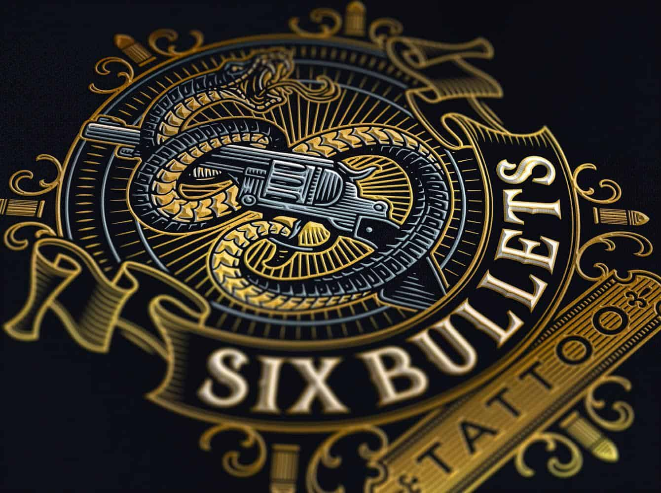 six-bullets-tattoo-london-logo