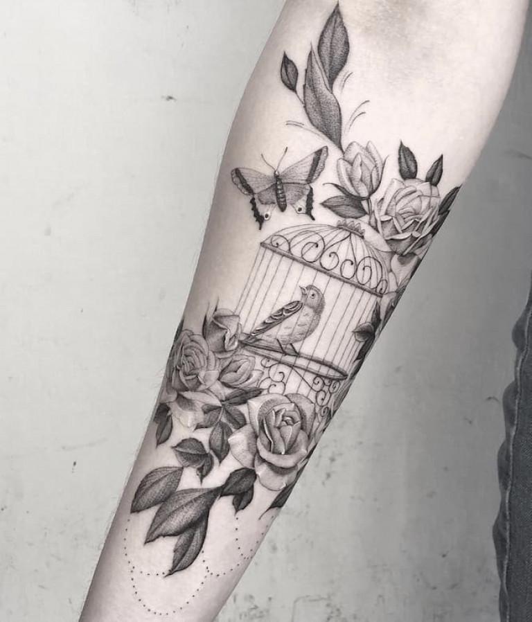 bird-cage-single-needle-tattoo