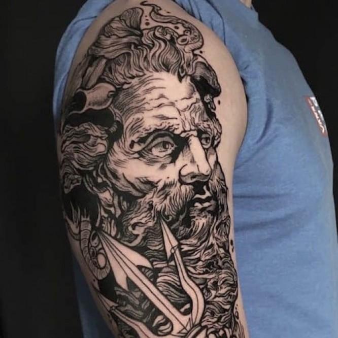 Blackwork Tattoo by Adrian De Largue