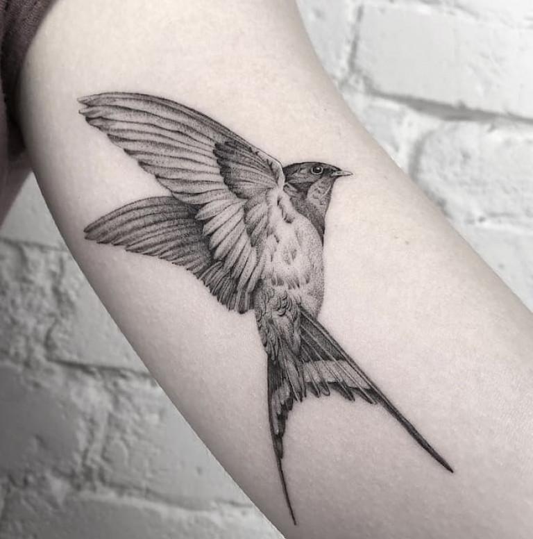 single-needle-tattoo-bird