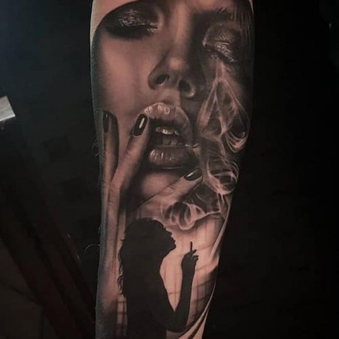 Black and Grey Realism Tattoo by Ben Dunning