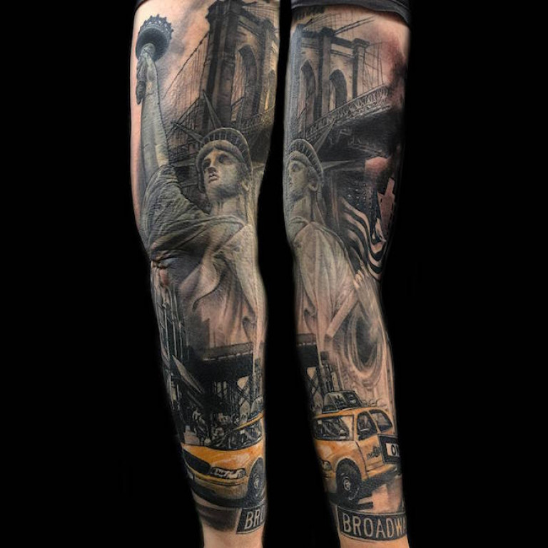 new your sleeve tattoo taxi