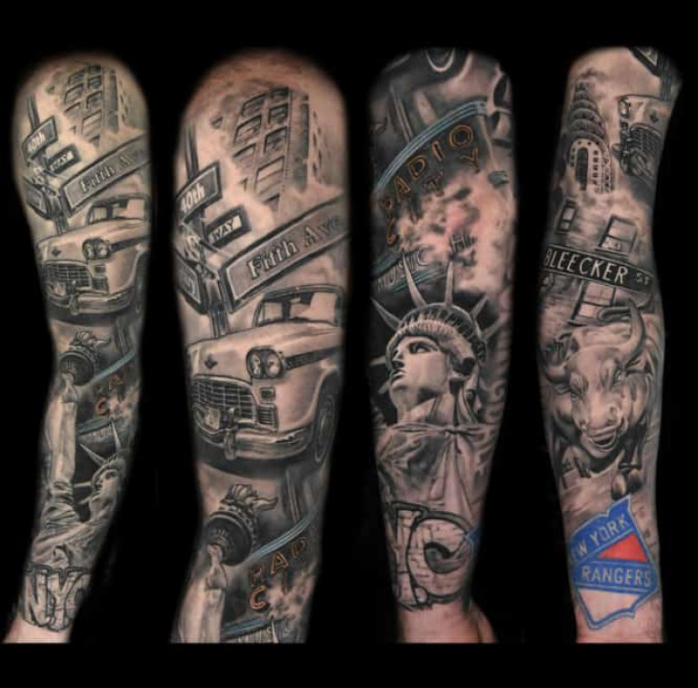 New York Sleeve Tattoo