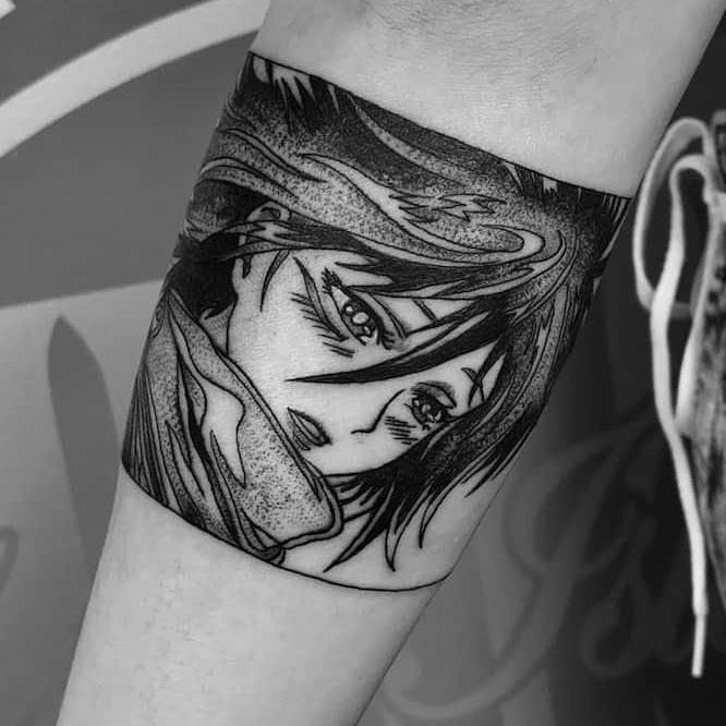 Hand Poked Tattoo by Kelly Needles