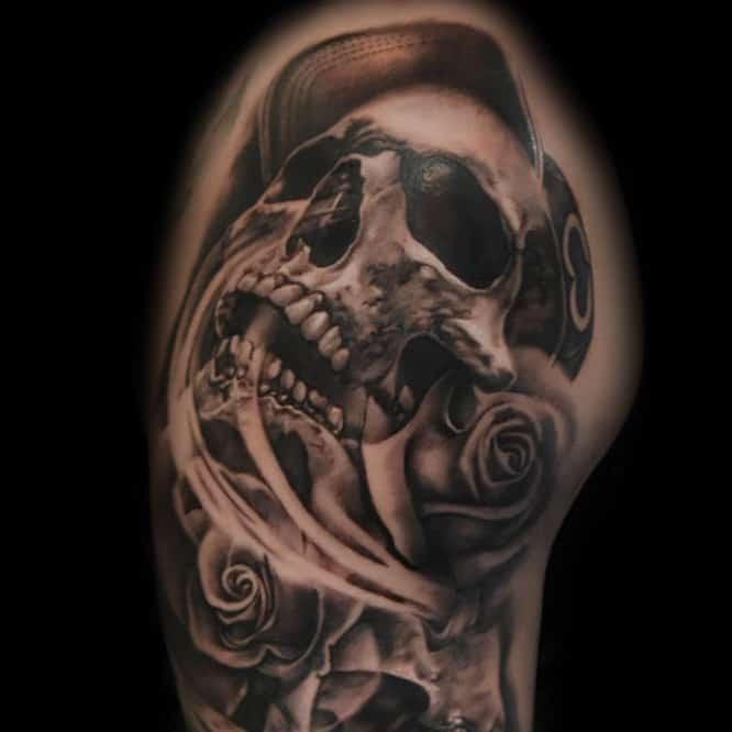 skulls-black-and-grey-tattoo